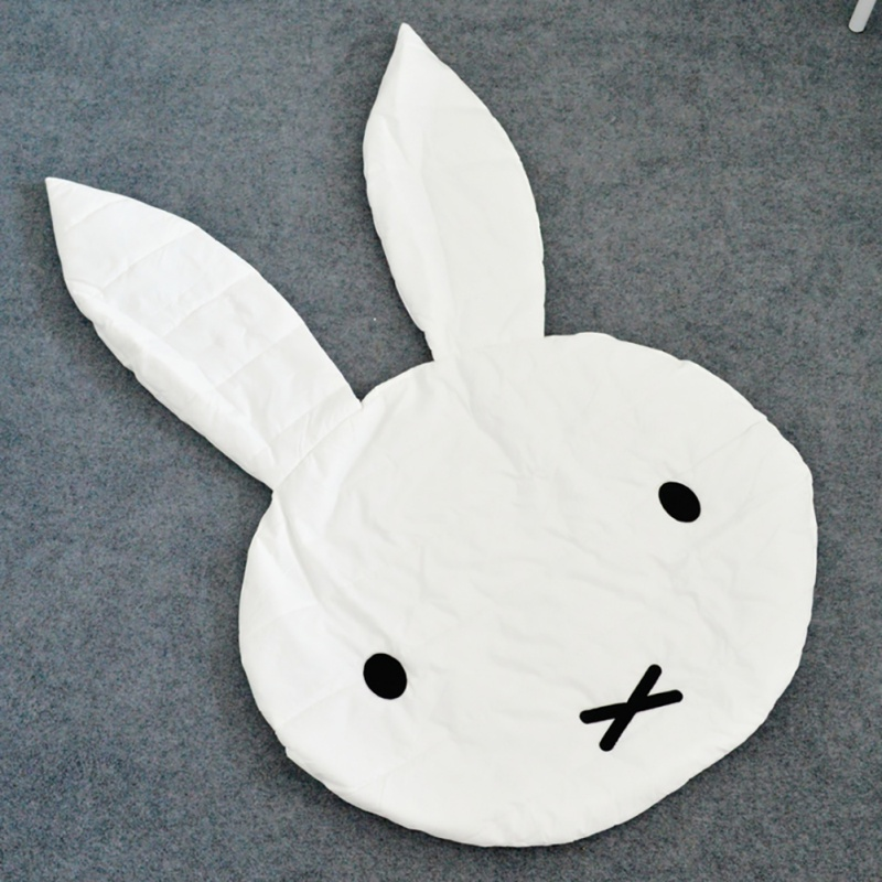 Blanket Creeping Sleeping Baby Crawling Mats Kids Play Rugs Cute Rabbit Room Decoration Cotton Floor Rug for kids