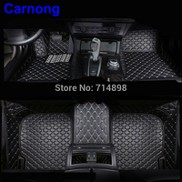 Carnong car floor mat leather for volvo v60 car 2011 2017 full set front and rear luxury protective mat for car floor