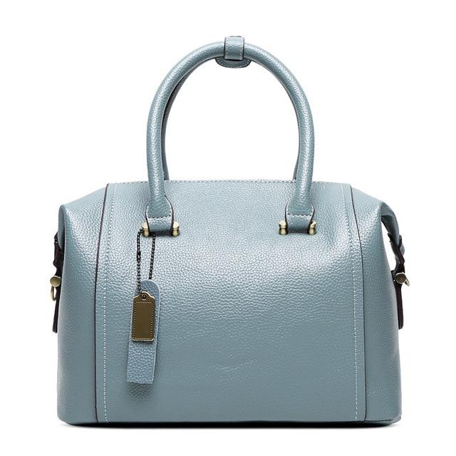 New women genuine leather bag women solid color handbags High quality zipper design messenger bags ladies shoulder bag 4 colors