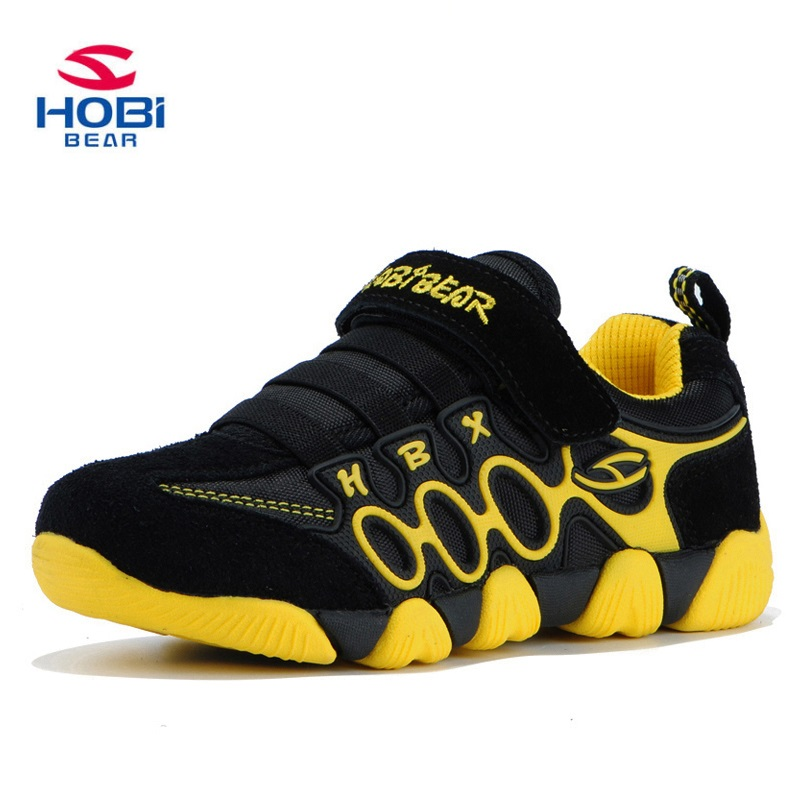 HOBIBEAR Sneakers Boys Casual Shoes Kids Girl Sneakers Breathable Running Shoes Children Lighted shoes Free Shipping  A597