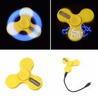 Intelligent LED Light APP Control Fingertips Gyro Rotation EDC Spinner Gyro