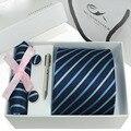 2016 Hombre Novelty Gravata Cortabata Hombre ancho tejido Jacquard corbatas Hanky gemelos set para Hombre del banquete de boda Formal Groom15