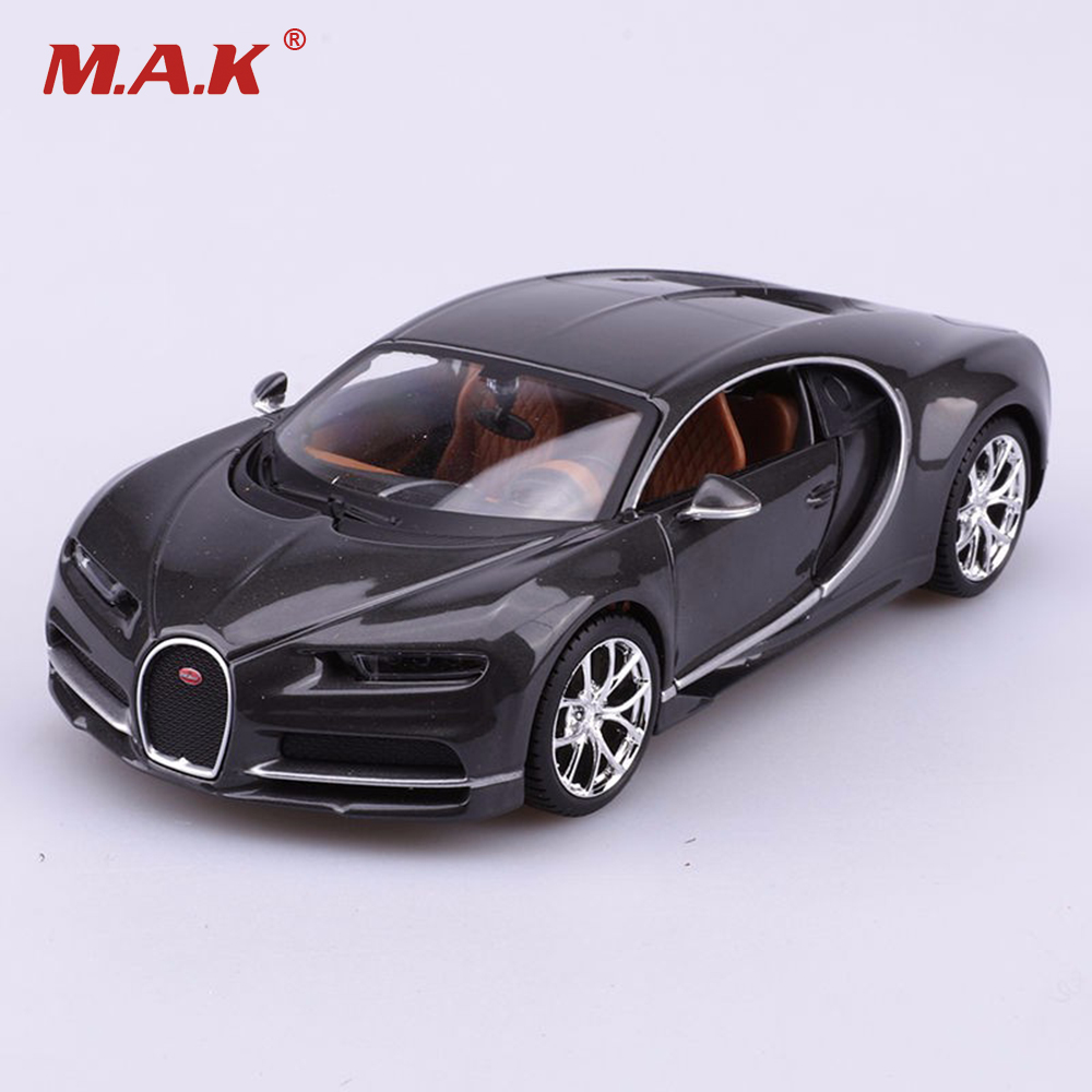 <font><b>1/24</b></font> <font><b>Scale</b></font> Diecast Black <font><b>Car</b></font> Model Bugatti Chiron Black Special Edition Toys Gifts For Children Collections Free Shipping image