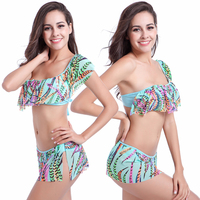 Flounced Top Crochet Swimwear Bikini Transparent Stretch Mesh Layer Excellent Quality Push Up Bikini S M