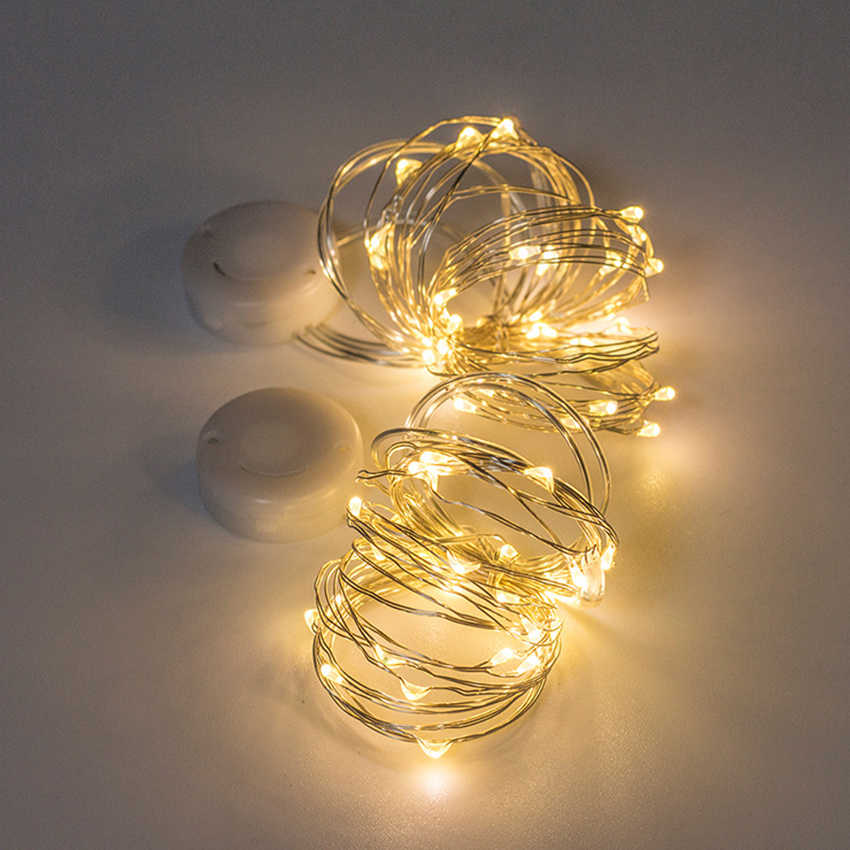 1M 2M 3M Koperdraad Led String Lights Battery Operated Holiday Wedding Party Kerst Decoratie Led String fairy Lights