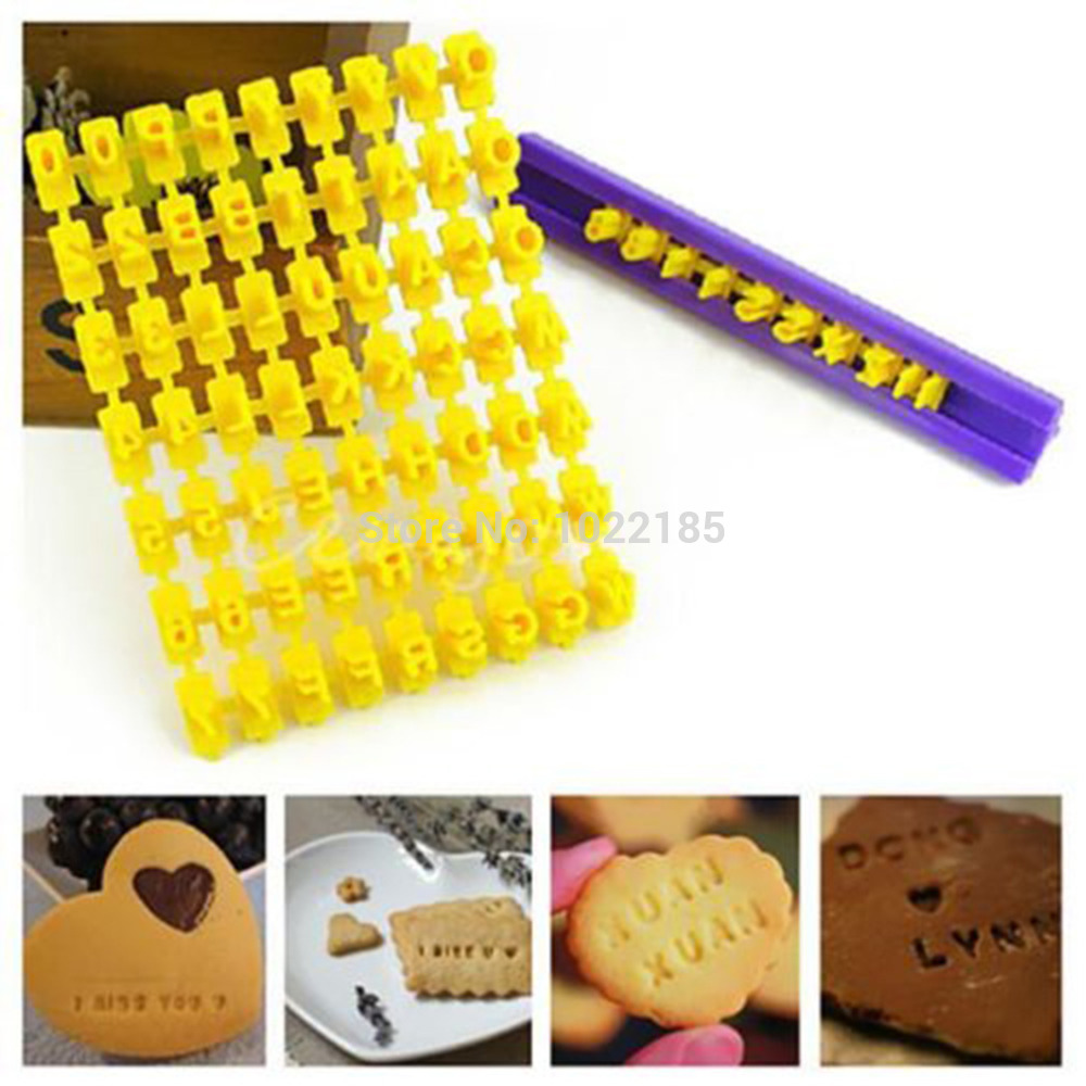 Kitchen,dining & Bar 40pcs Alphanumeric Symbols Printed Fondant Cake Decor Mold Tools Letters Printed Plastic Candy Mould Kitchen Accessories Latest Technology