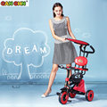 CANCHN child tricycle PVC wheel portable fold baby bike detachable baby walker safe baby bicycle