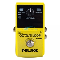 NUX Octave Loop Guitar Accessories Electric Effect Pedal True Bypass Octave Loop Pedal Effect Guitar Parts nux Pedal Accessories