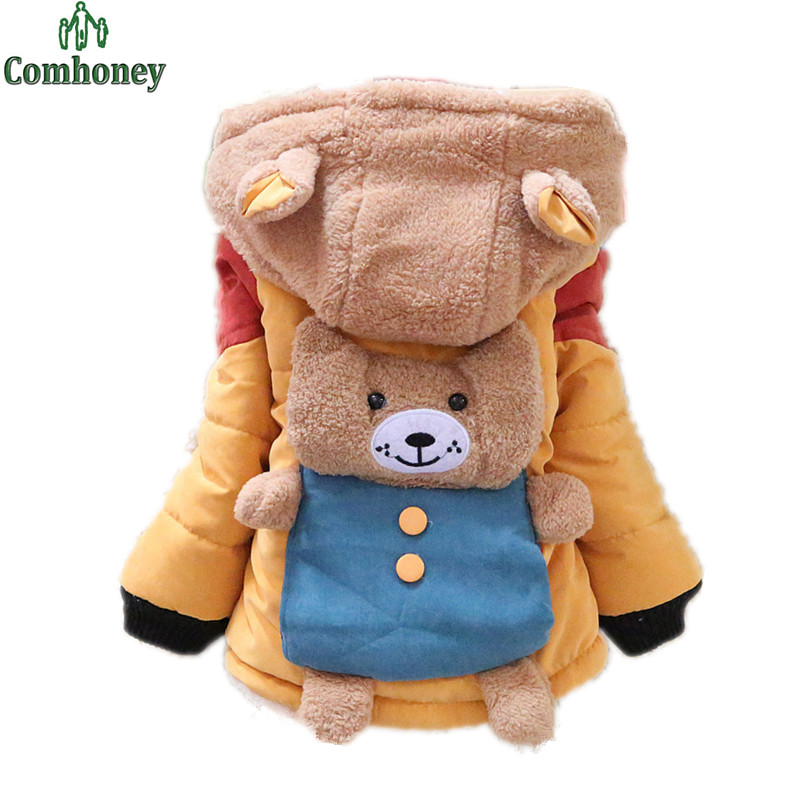 Boys Jacket Infant Winter Coat Bebe Warm Plush Hooded Snow Wear Thick Jackets For Boys Clothing Baby Snowsuit