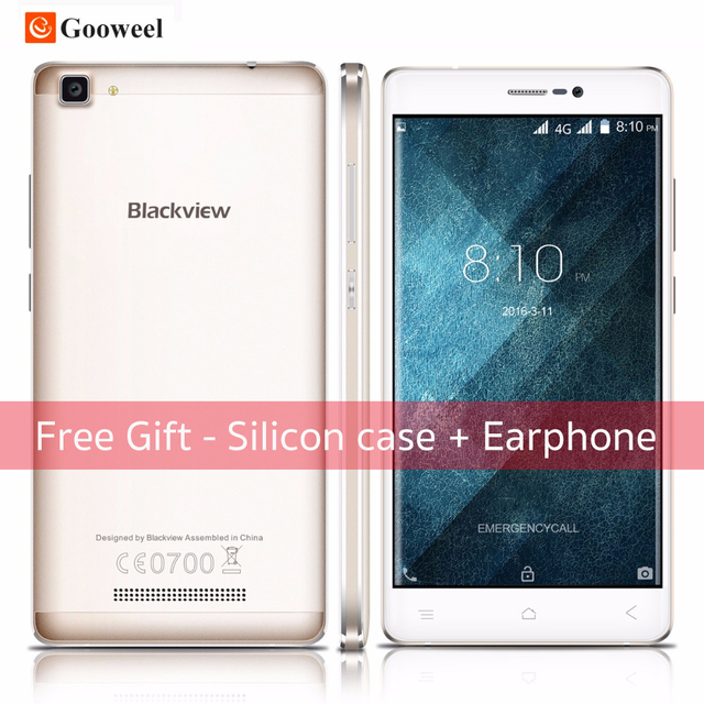 Blackview A8 Max Android 6.0 smartphone MT6737 Quad Core Mobile Phone 4G LTE 5.5 inch 2GB+16GB 8MP 3000mAh cell phone
