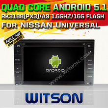 WITSON Quad Core Android 5.1 CAR DVD for NISSAN TREEANO VERSA JUKE AUTO RADIO GPS SAT NAVI +DVR/WIFI/3G+DSP+RDS+16GB flash