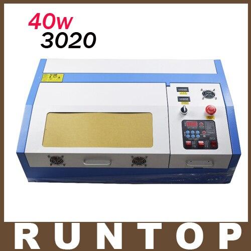 40W  200*300mm Mini CO2 Laser Engraver Engraving Cutting Machine 3020 Laser with USB Sport  manufacturer 3020 40w mini co2 desktop laser engraving cutting machine