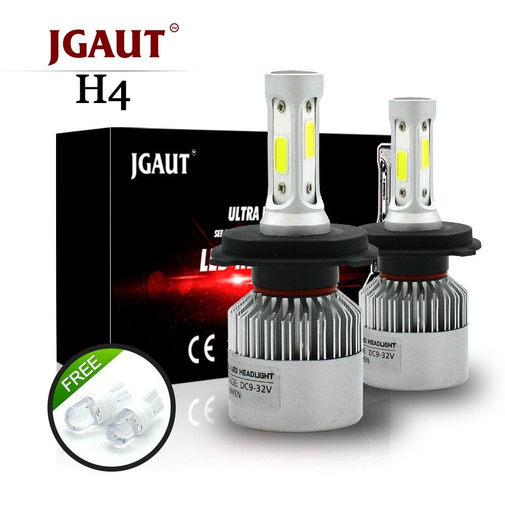JGAUT S2 H4 H7 H13 H11 H1 9005 9006 H3 9004 9007 9012 COB LED Del Faro 72 W 8000LM LED Auto Fari Lampadina Della Luce di Nebbia 6500 K 12 V