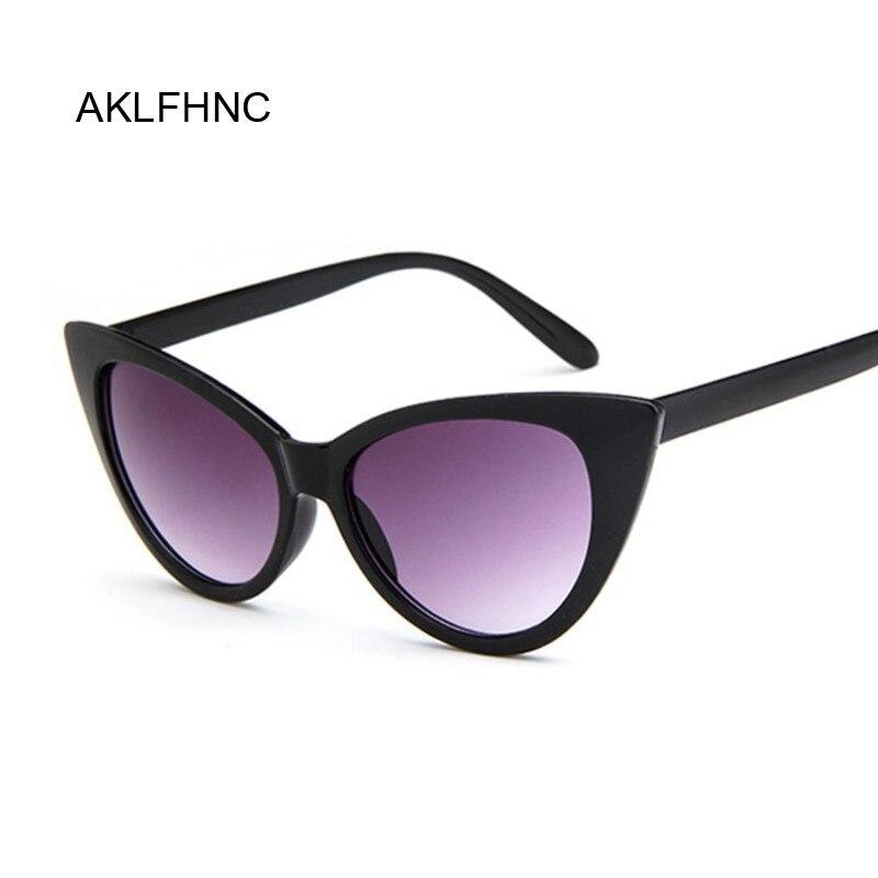 Lunettes de soleil UV400, rétro pour femmes, verres solaires Vintage, styliste, œil de chat, noir et blanc, pour femmes, nouvelle collection
