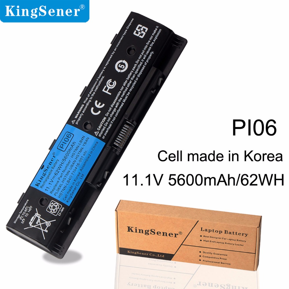 KingSener Korea Cell PI06-batteri for HP Enyy 14 15 17-serien for paviljong 14-E051TX HSTNN-LB4N HSTNN-UB4O 710415-001 11,1 V 62WH