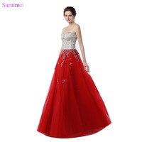 ניגודיות הגעה חדשה שמלות לנשף חרוזים שמפניה באיכות גבוהה אדום טול מחוך תמונה אמיתית ארוכה נשף שמלת Vestidos
