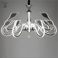 led swan chandelier AC85 265V with 3W 4W 5W 7W G4 bulb dimmable crystal hanglamp for Living room, dining room, bedroom