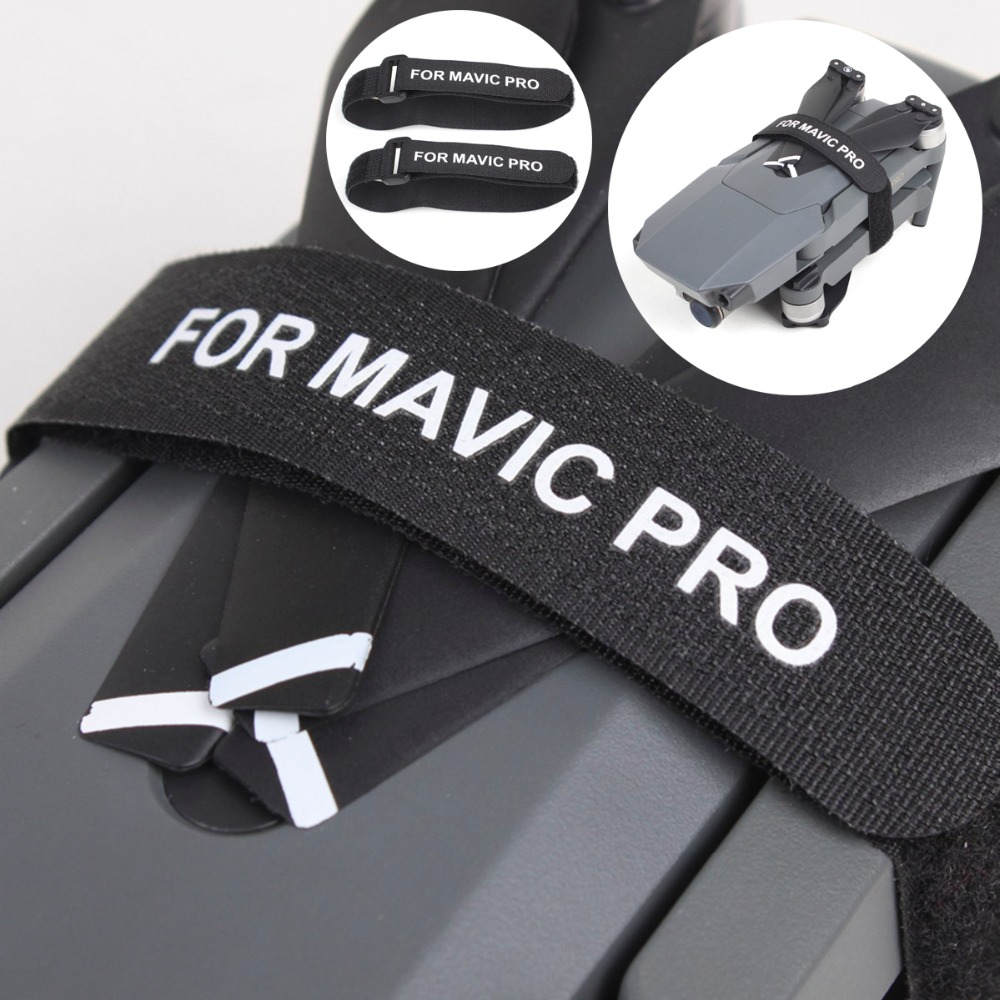 2pcs Propeller Blade Motor Fixed Fixer Magic Tape Straps Hook Loop Cable Cord Ties For DJI Mavic Pro Platinum Mavic 2 Zoom Drone