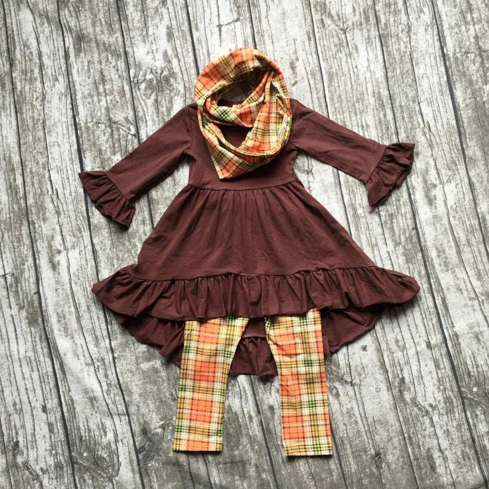 FALL OUTFITS  girls 3 pieces sets with scarf girls thanksgiving clothing baby girls boutique clothes kids brown top sets frank buytendijk dealing with dilemmas where business analytics fall short