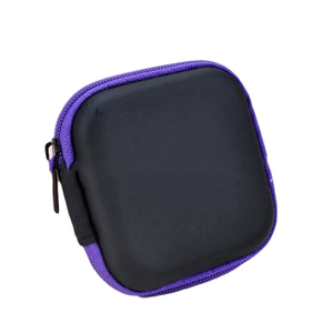 Image 4 - DOITOP Mini Zipper Harte Kopfhörer Fall PU Leder Kopfhörer Lagerung Tasche Schutzhülle USB Kabel Organizer Für Tragbare Ohrhörer box