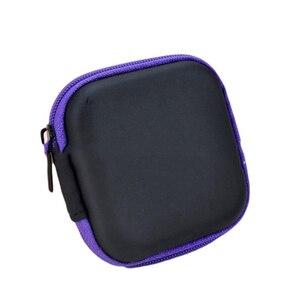 Image 4 - Doitop 미니 지퍼 하드 헤드폰 케이스 pu 가죽 이어폰 보관 가방 휴대용 이어폰 상자에 대 한 보호 usb 케이블 주최자