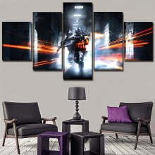 Battlefield 3 Game Modern Decor HD Print Canvas Printed 5 Pieces Painting Wall Art Living Room Artwork Home Poster