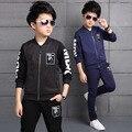 Crianças Meninos Tracksuits Conjuntos de Roupas Crianças de Algodão Ternos Esportivos Primavera meninos outono roupas uniformes escolares 5 7 9 11 12 Y