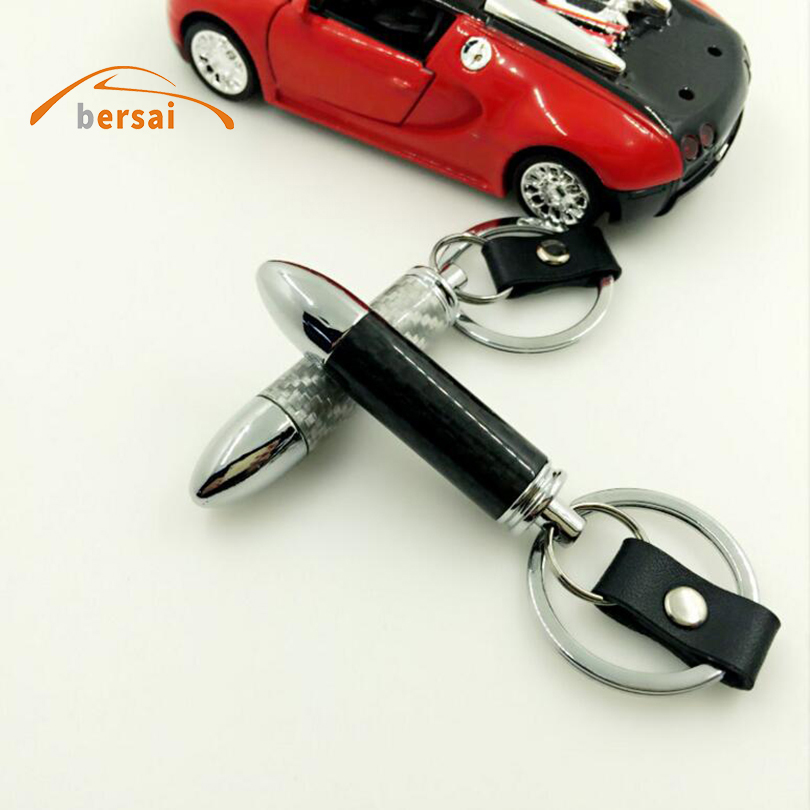 Automobile and motorcycle exhaust pipe Car keychain key ring Car styling For HONDA TOYOTA NISSAN SUZUKI Hyundai KIA Accessories in Key Rings from Automobiles Motorcycles