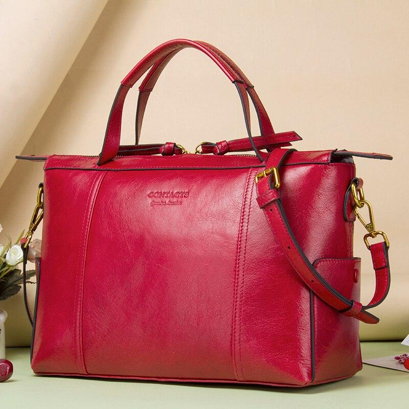 Contactez les femmes sac pratique sacs à main marque Designer sac de bureau organisé femmes sacs à main en cuir fonctionnel beau sac à main-in Sacs à poignées supérieures from Baggages et sacs    1
