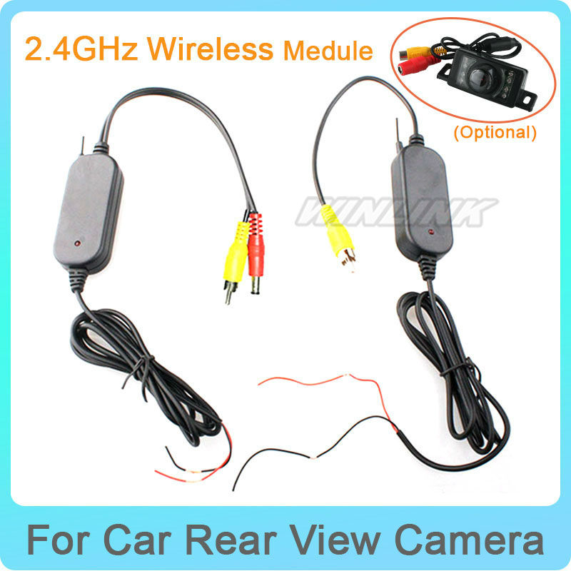 Professional Easy Install 2.4G Wireless Transmitter /& Receiver Adapter for Car Reverse Rear View Backup Camera