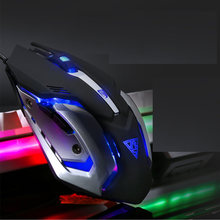 Professional wired gaming mouse 6 key 5500 DPI LED optical USB 3.0 computer business office silent for pc