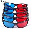 5 шт./компл. красные и синие 3d-очки в оправе для объемных анаглифов  фильмов  игр  DVD  черные