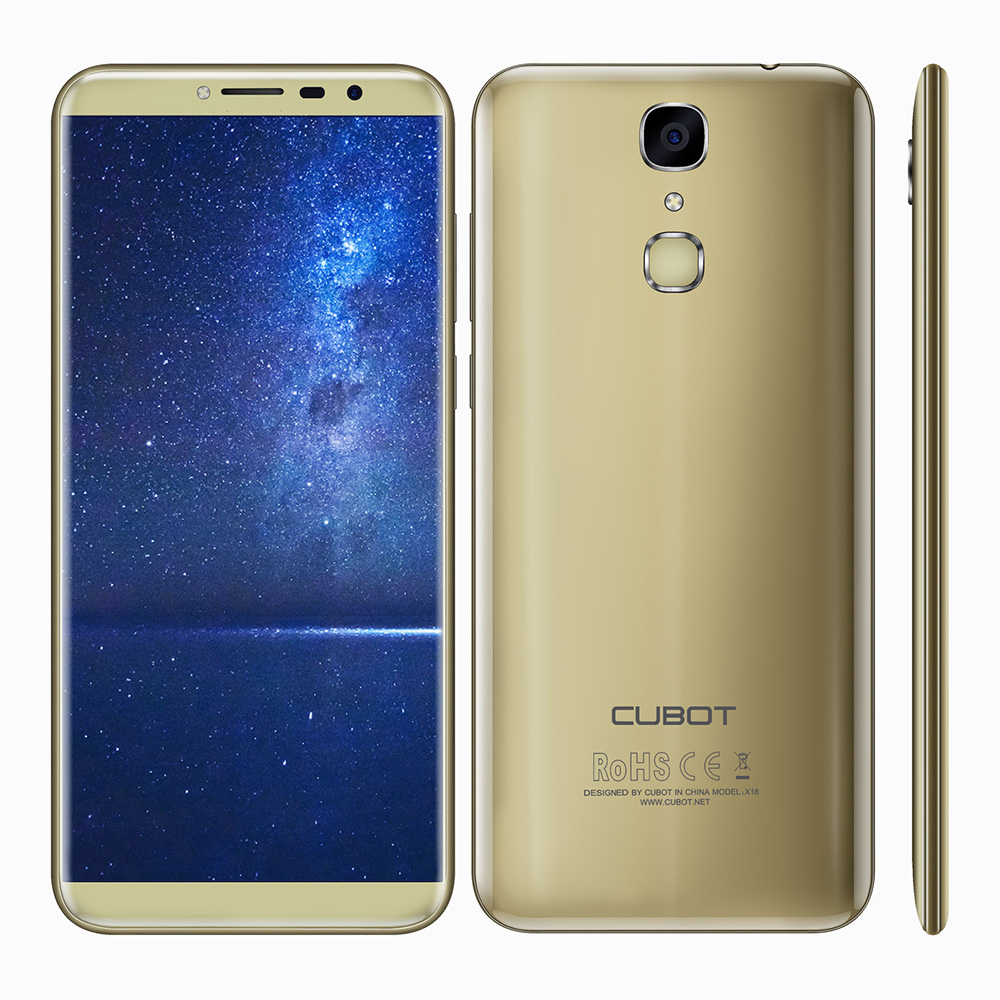 Latest Cubot X18 5 7 HD IPS Android 7 0 4G Mobile Phone Quad Core 3GB