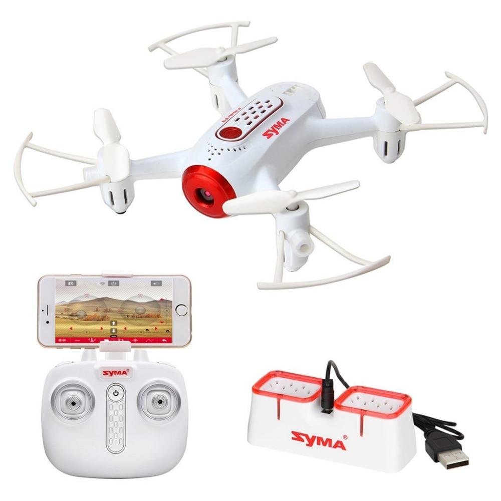 Mini UFO Quadcopter Syma X22W Wifi FPV Pocket Drone HD Camera Headless Mode RC Drone with Flight Plan and App Control White