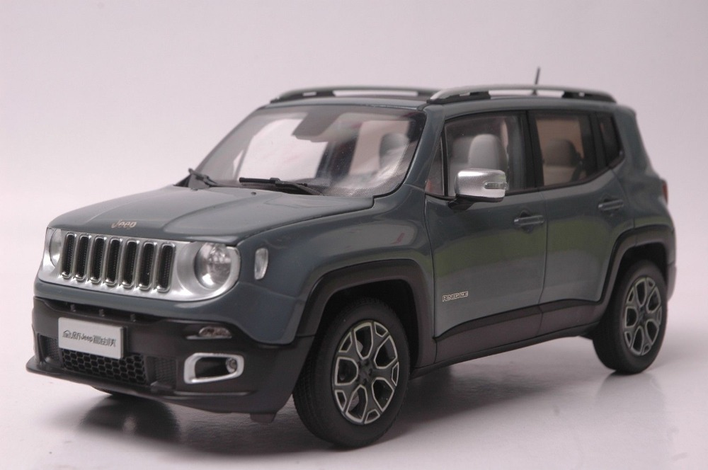 1:18 Diecast Model for JEEP Renegade 2016 Grey SUV Alloy Toy Car Collection Gifts 1 18 all new jeep wrangler willys 2017 cabrio off road vehicle suv alloy toy car