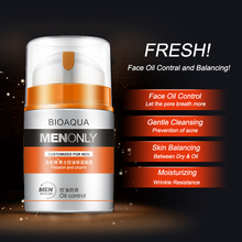 BIOAQUA Men Skin Care anti-wrinkle Moisturizing face cream acne treatment Blackhead firming tightening hydrating facial mask 50g