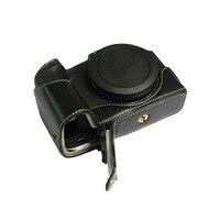 Genuine Leather Camera Case Bag Half Body For Canon EOS RP Camera case Wrist strap Professional bottom cover
