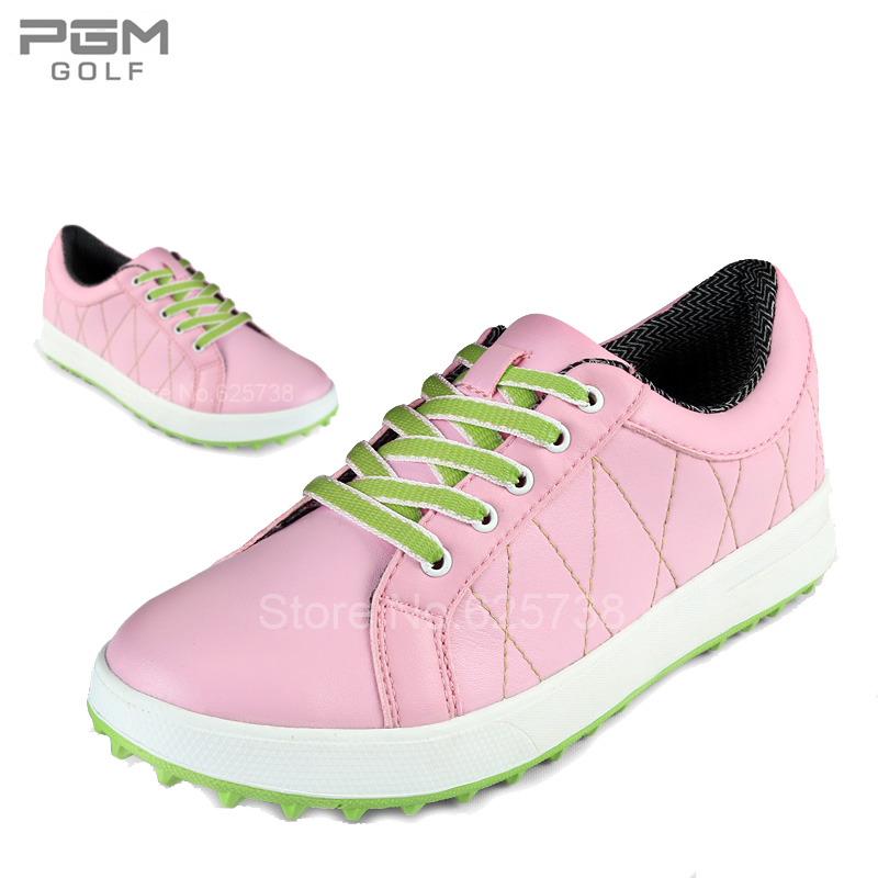 Pgm golf ball shoes golf Women ultra-light gentle sport shoes waterproof spikes golf ball sample display case