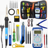 60W Temperature Electric Soldering Iron Kit Soldering Iron kit With Multimeter Desoldeirng Pump Welding Tool 110V/220V