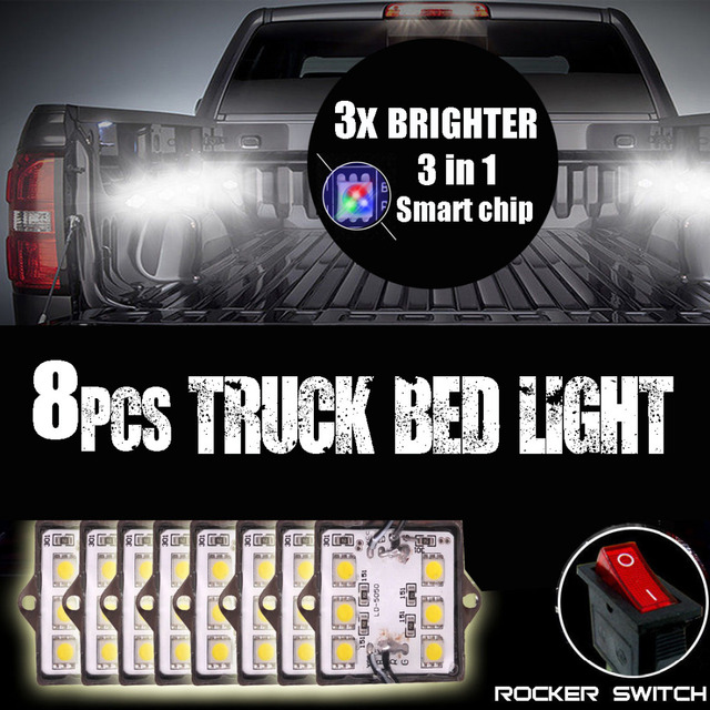 8pcs White Truck Bed Led Lighting Kit For Ford Chevy Dodge Gmc Pick Up Trucks In Light System From Automobiles Motorcycles On Aliexpress