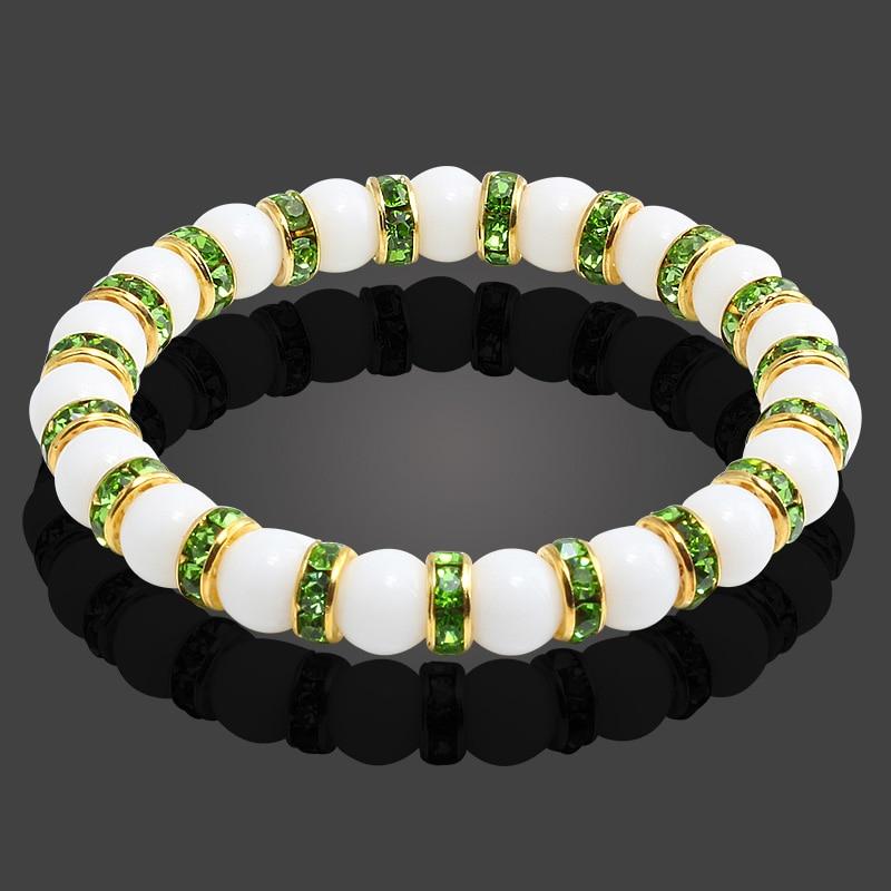 Image 2 - 11 Style Natural Stone Chakra Elastic Bracelet Men White  Porcelain Healing Balance Beads Reiki Buddha Prayer Bracelet For  WomenStrand Bracelets