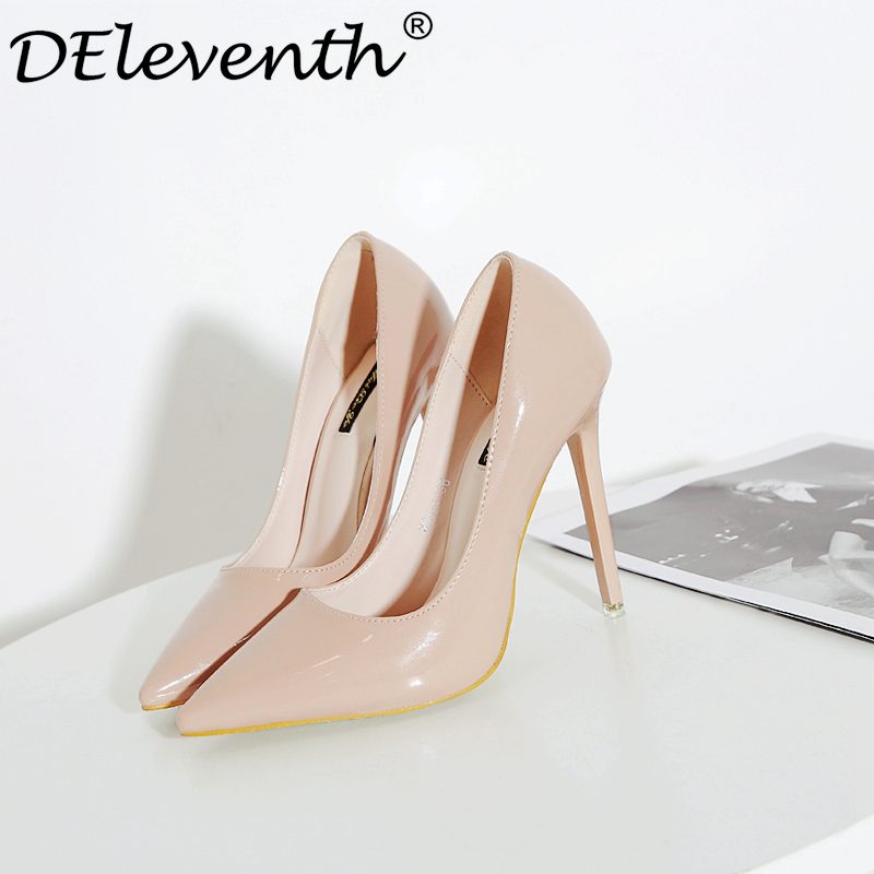 92b7500715b6 Fashion Ladies Wedding Shoes Women Sexy Stiletto Pointed Toe High Heels  Pumps Shoes Red Black White