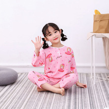 Girls Summer Pajamas Cartoon Pyjama Boys Mario Mickey Mouse Clothing Sets Baby Sleepwear BABAONIU