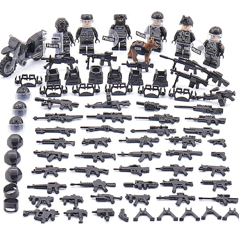 New 6pcs Modern Military Armed Forces SWAT Jungle Maze Mini Sences Building Blocks Children Toys Gift Compatible With LegoInglyNew 6pcs Modern Military Armed Forces SWAT Jungle Maze Mini Sences Building Blocks Children Toys Gift Compatible With LegoIngly