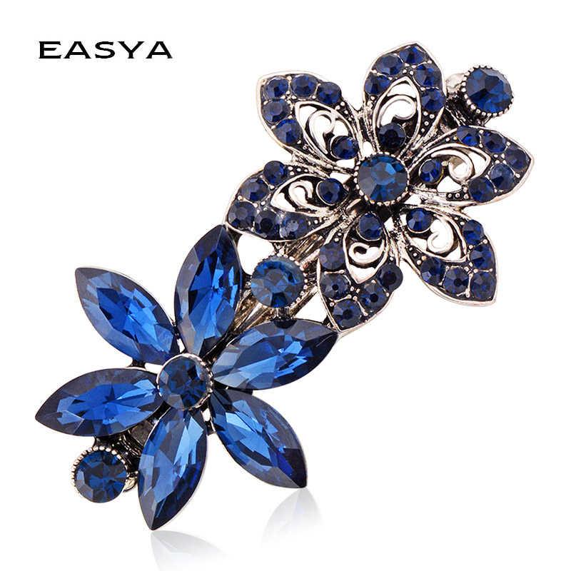 Turquiose stone petal hair pin jewelry