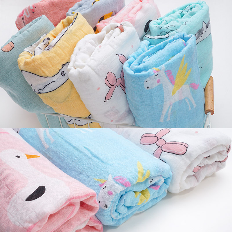 Dropshipping 70%Bamboo 30%Cotton Muslin Diapers  Super Soft Baby Blankets Newborn Swaddle Wrap Bebe Baby Bath Towel Bedding Set