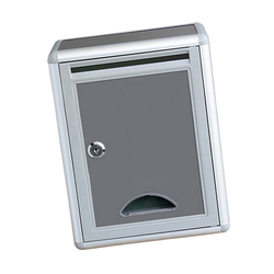 3 Pieces Modern Style Gray Villa Mailbox Outdoor Newspaper Box Suggestion Box