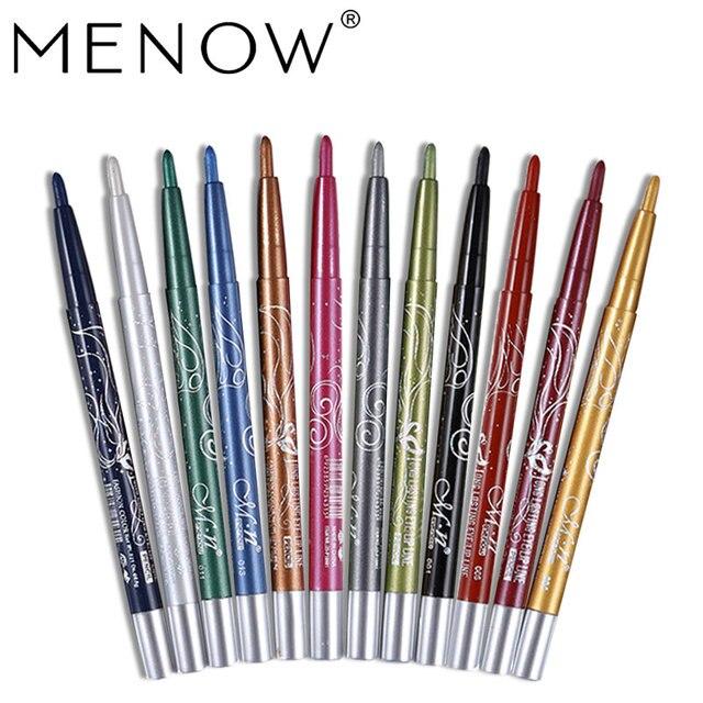Menow Maquillage ensemble 12 Couleur/kit Étanche ombre à paupières Crayon Rotation Eyeliner Longue durée Eyeliner Cosmétiques maquiagem P10001