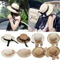 Fashion Summer Casual Women Ladies Wide Brim Beach Sun Hat Elegant Straw Cap For Women Dating 9Colors
