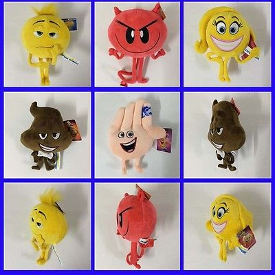 7 inch Cute Pillow Smiley Emoticon Soft Stuffed Plush Toy Doll Emoji Movie Gift christmas theme figure model lovely plush doll soft cute stuffed toy 15 7 inch